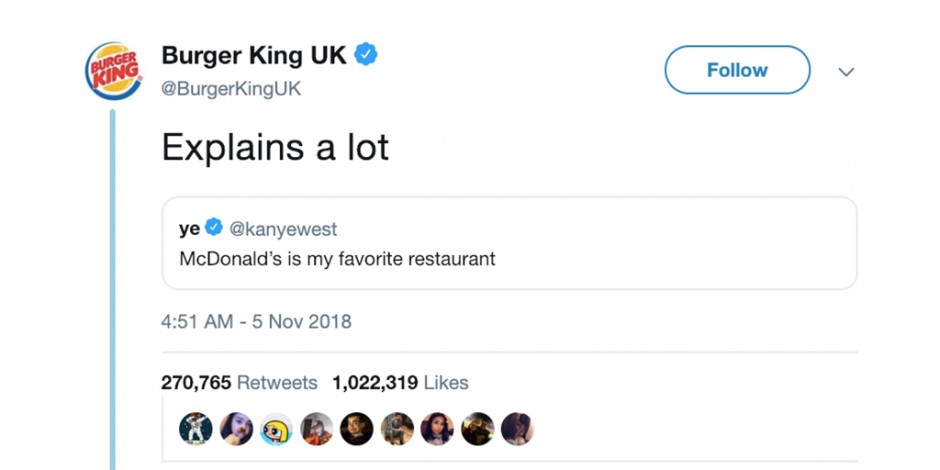 Burger King Kanye West tweet