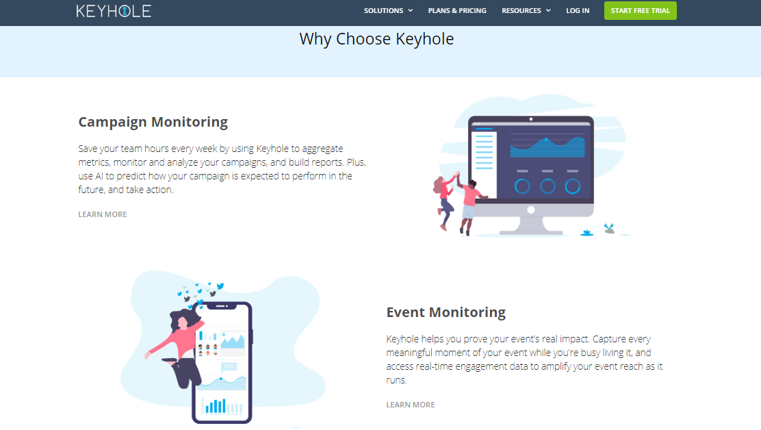 Keyhole - social listening tools