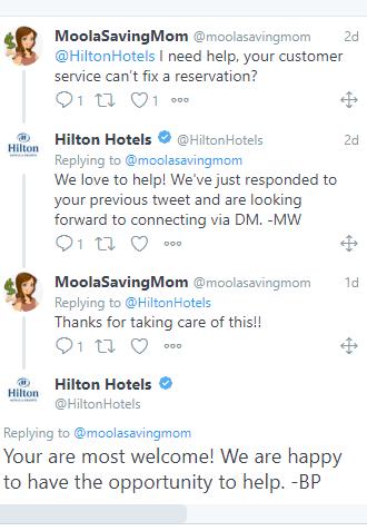 Hilton Hotels Social Listening