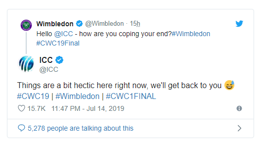 ICC and Wimbledon Chatter