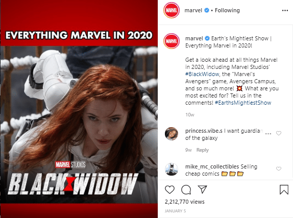 Coming soon marvel posts