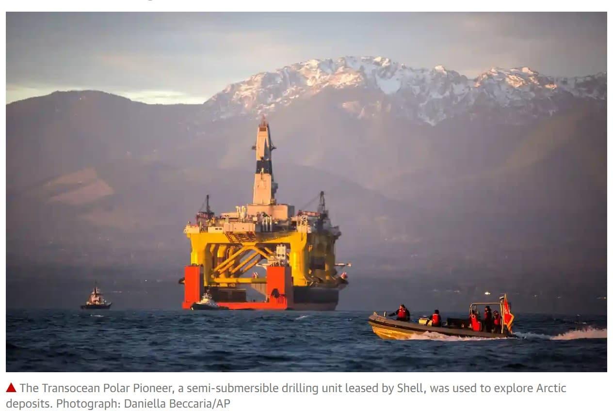 Shell drilling oil in Alaska