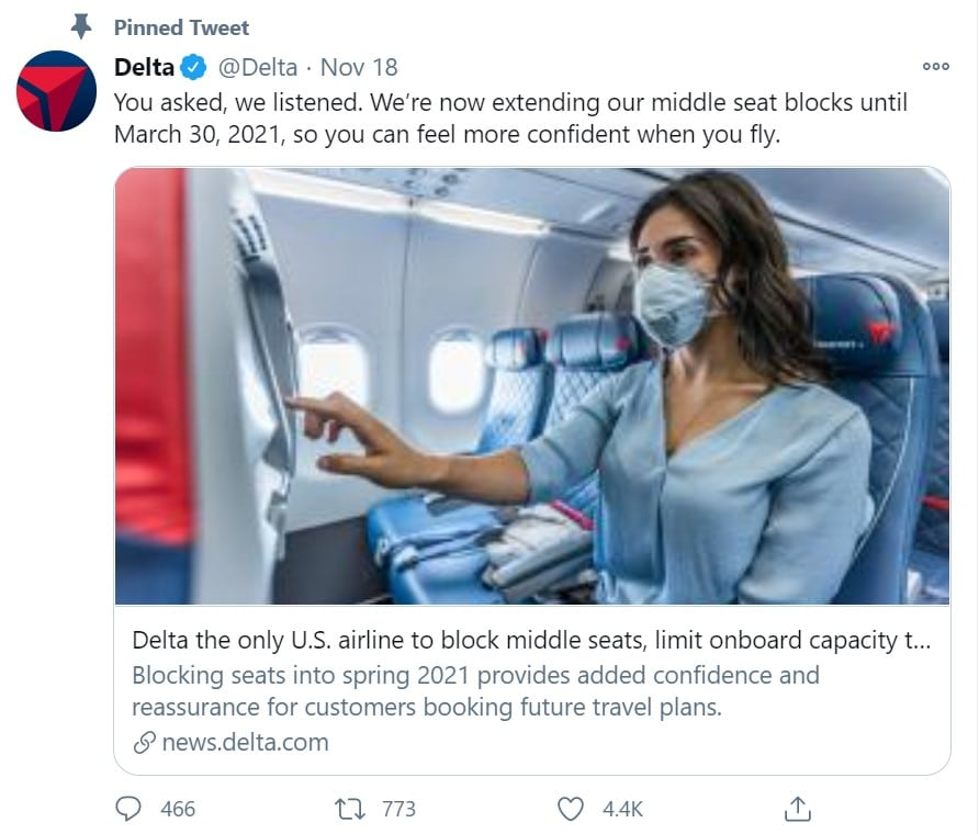 Delta's communication